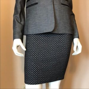 Loft Slip-On Hexagon Pattern Pencil Skirt